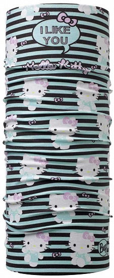 Бандана детская Buff Hello Kitty Tipography Aqua - Фото 1 большая