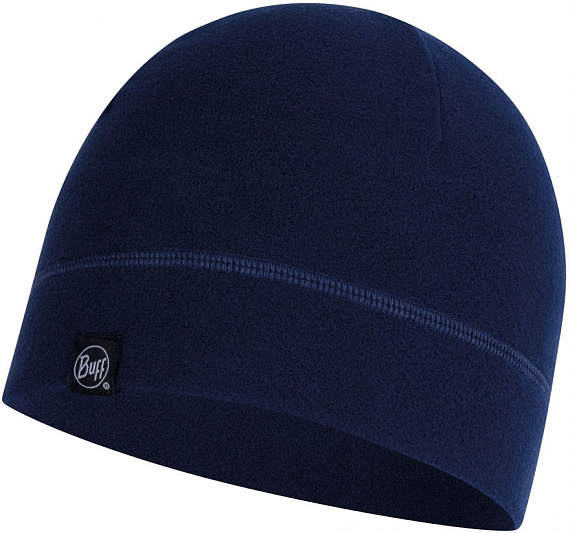 Шапка Buff Polar Hat Solid Night Blue - Фото 1 большая