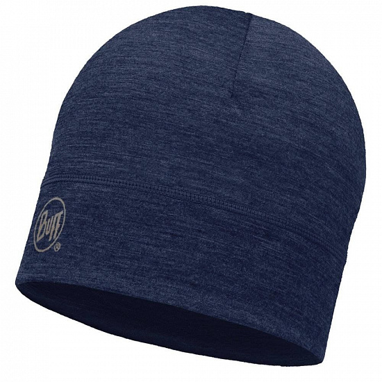 Шапка Buff Lightweight Merino Wool Hat Solid Denim - Фото 1 большая