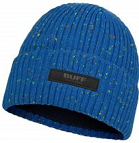 Шапка детская Buff Jr Knitted & Fleece Hat Jorg Olympian Blue