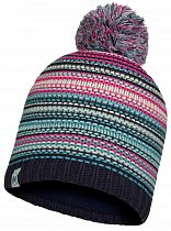 Шапка детская Buff Jr Knitted & Fleece Hat Amity Night Blue