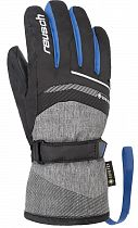 Перчатки детские Reusch Bolt Gtx Black/Black Melange/Brilliant Blue