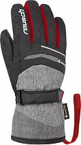 Перчатки детские Reusch Bolt GTX Black/Black Melange/Fire Red