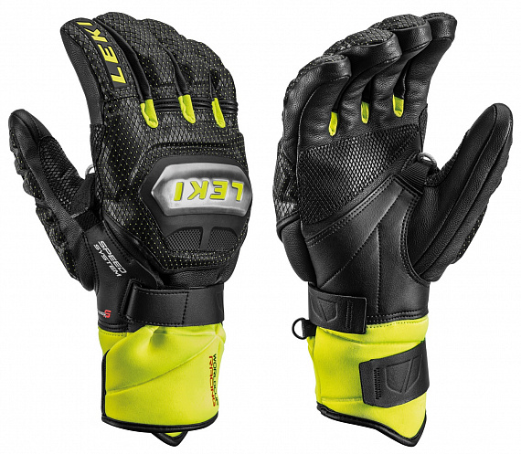 Перчатки Leki Worldcup Race Ti S Speed System Black/Ice Lemon - Фото 1 большая