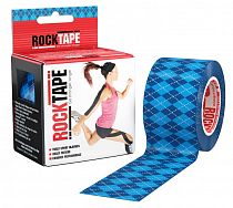 Кинезиотейп Rocktape Design, 5см х 5м, Синий Узор