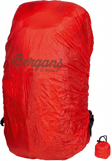 Накидка на рюкзак Bergans Raincover XL Red - Фото 1 большая