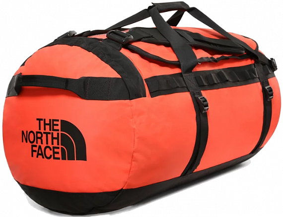 Баул The North Face Base Camp Duffel - L Flare/TNF Black - Фото 1 большая